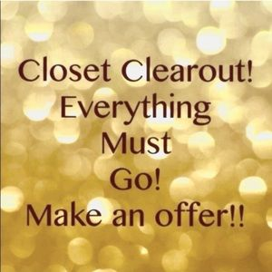 CLOSET CLEAR OUT - ACCEPTING OFFERS